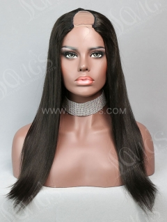 U Part Wig Straight Human Hair