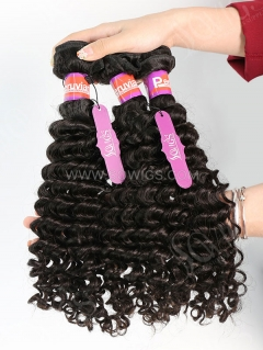 3 Bundles Peruvian Deep Curly Human Virgin Hair