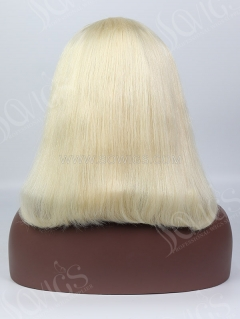 150% Density Lace Front Wig Bob Straight 613 Blonde Color Human Hair