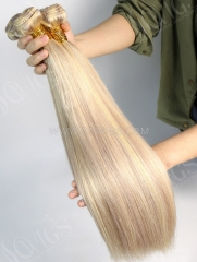 1 Bundle Brazilian #P18/613 Color Straight Human Hair