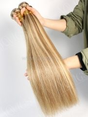 1 Bundle Brazilian #P8/613 Color Straight Human Hair