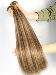 1 Bundle Brazilian #P4/27 Color Straight Human Hair