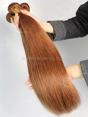 1 Bundle Brazilian #30 Color Straight Human Hair