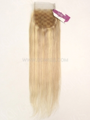 4*4 Lace Closure Brazilian P#18-613 Color Straight Human Hair