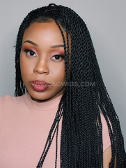 Synthetic Lace Front Wig 1B Color Box Braids Hair