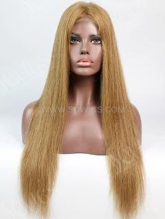 180% Density #8 Color Lace Closure Wig Straight Human Hair