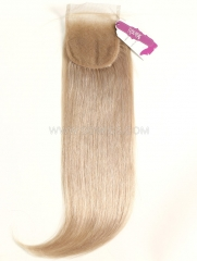 4*4 Lace Closure Brazilian #18 Color Straight Human Hair