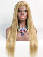 180% Density P#8-613 Color Lace Closure Wig Straight Human Hair