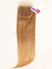 4*4 Lace Closure Brazilian #10 Color Straight Human Hair
