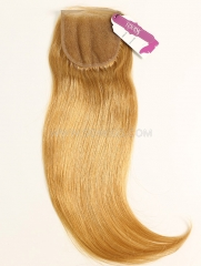 4*4 Lace Closure Brazilian #27 Color Straight Human Hair