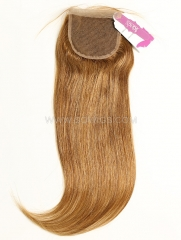 4*4 Lace Closure Brazilian #6 Color Straight Human Hair