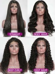 Transparent Lace 130% Density Full Lace Wig Human Hair