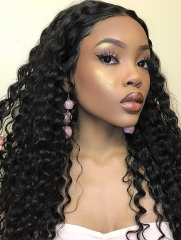 130% Density Full Lace Wig Deep Wave Human Hair