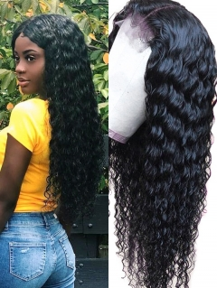 180% Density Lace Front Wig Deep Wave Human Hair