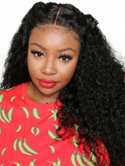 180% Density 360 Lace Wig Deep Curly Human Hair