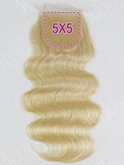 5*5 Lace Closure 613 Color Body Wave Human Hair