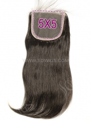 5*5 Lace Closure Straight Human Hair