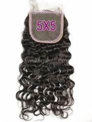 5*5 Lace Closure Natural Wave Human Hair