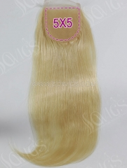 5*5 Lace Closure 613 Color Straight Human Hair