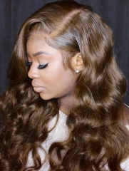 130% Density #4 Color Full Lace Wig Loose Wave Human Hair