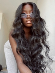 180% Density Thick Pre Plucked Lace Wig Human Hair Wig