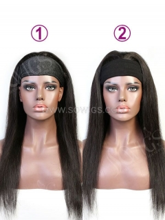 Headband Scarf Human Hair Wigs No Lace