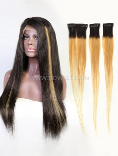 180% Density Lace Front Wig Straight Human Hair