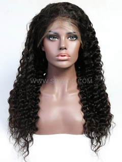 130% Density Silk Top Deep Wave Full Lace Wig Human Hair